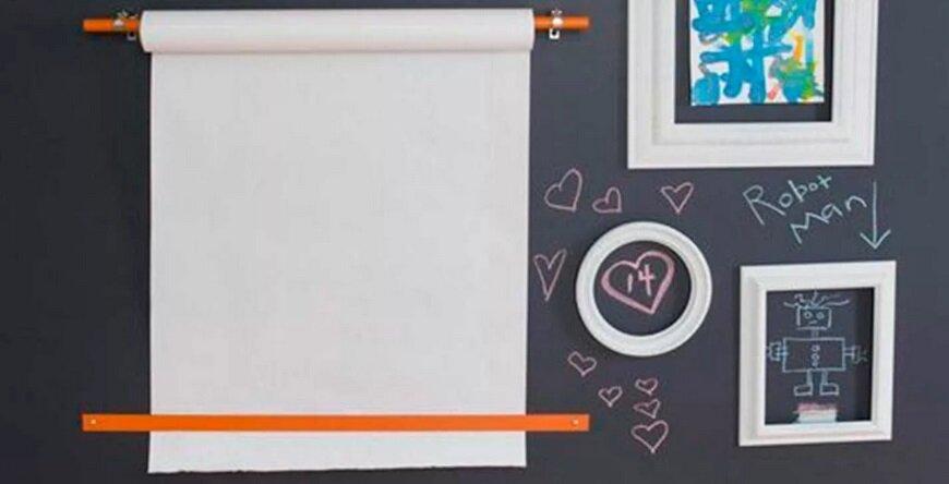 бумага для рисования на стене